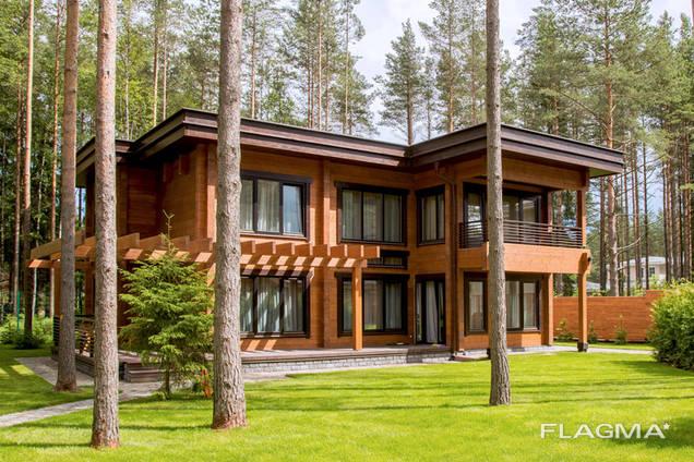 Дома из бруса профилированного и оцилиндрованного бревна. Строительство и проектирование