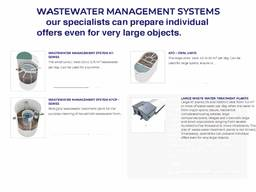 Patented wastewater treatment technology ( with certification from the european union