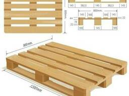 Wooden pallets EPAL, EUR, 1000*1200IPPC, your size - фото 2